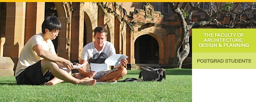 Postgraduate Students (Damien and Phil on the Quadrangle lawn)