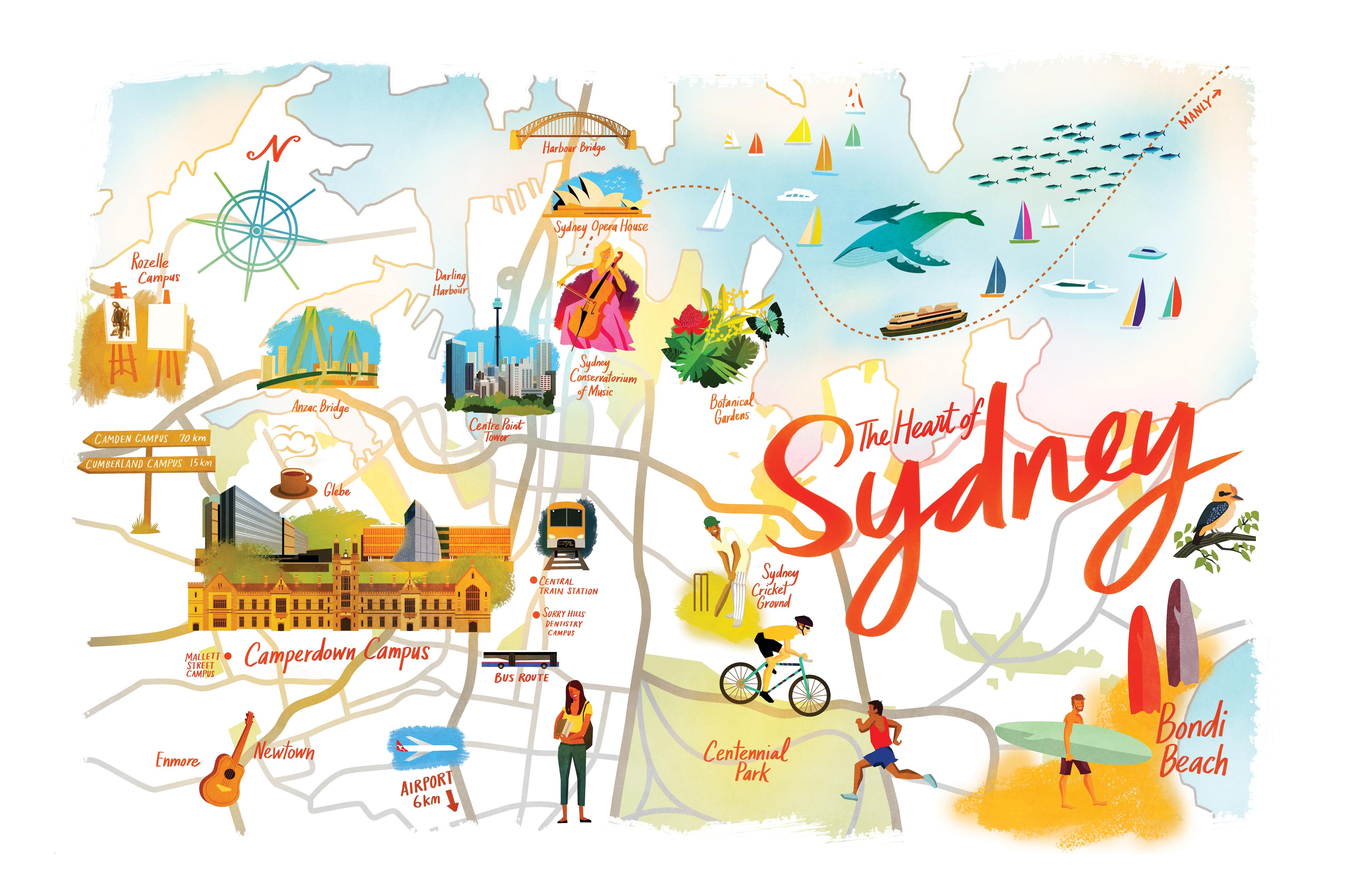 Surrounding suburbs The University of Sydney