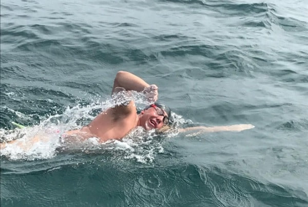 Intensive Care Specialist Succeeds In Channel Swim The University Of Sydney