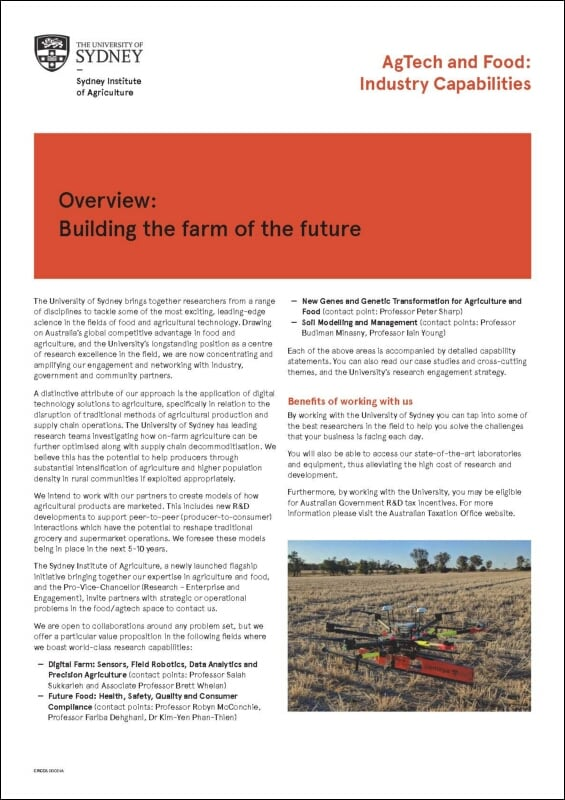 Building the Farm of the Future