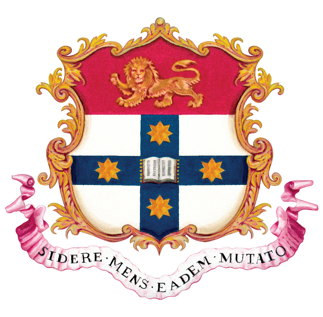 The current version of our ceremonial Univeristy arms