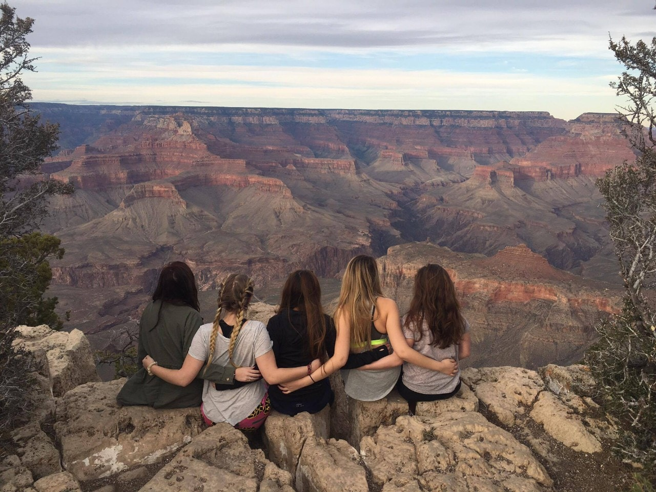 Group of exchange students at the Grand Canyon