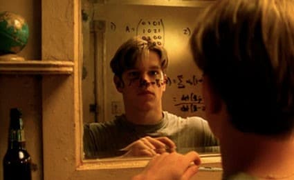 Good Will Hunting doing maths