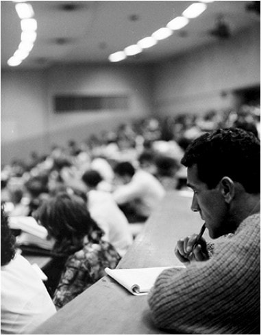 Charles Perkins studying at University of Sydney in 1963