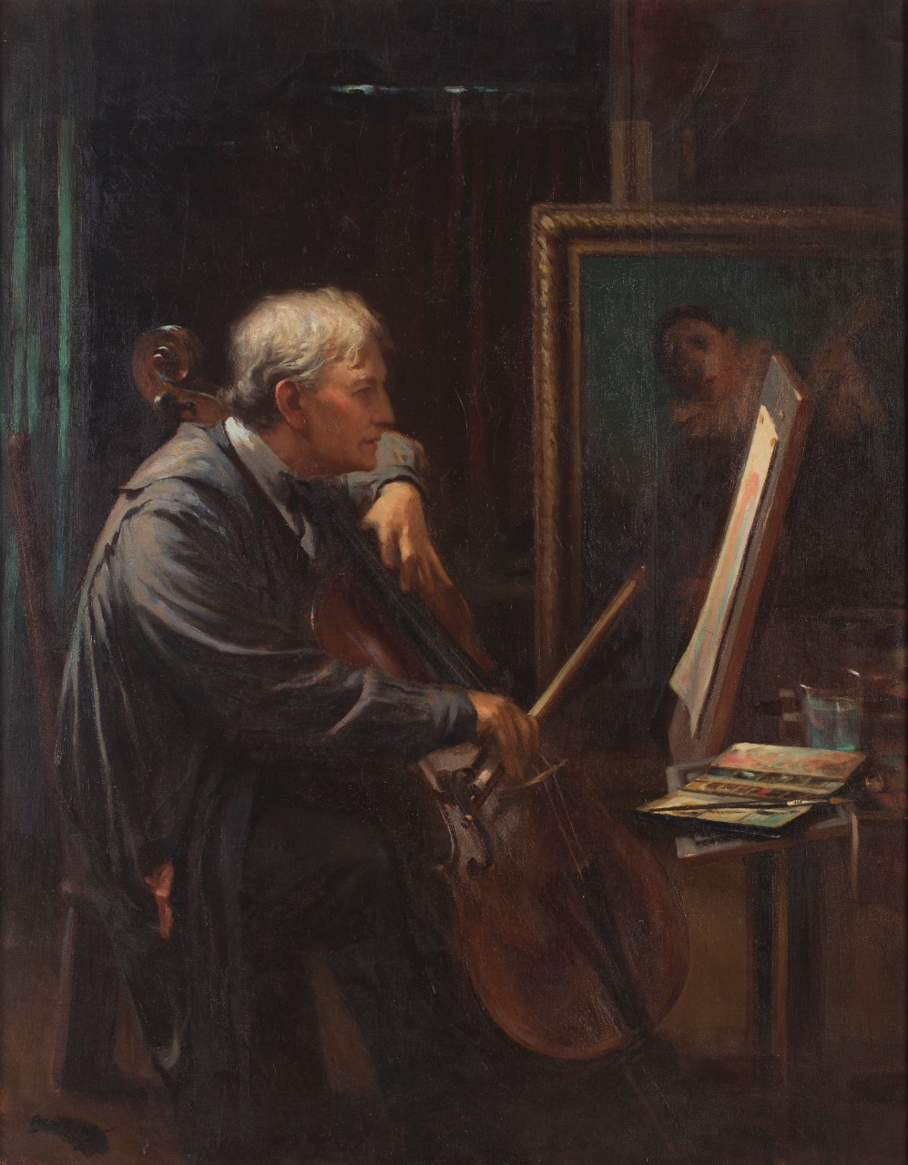 Cellist by Walter Bowring