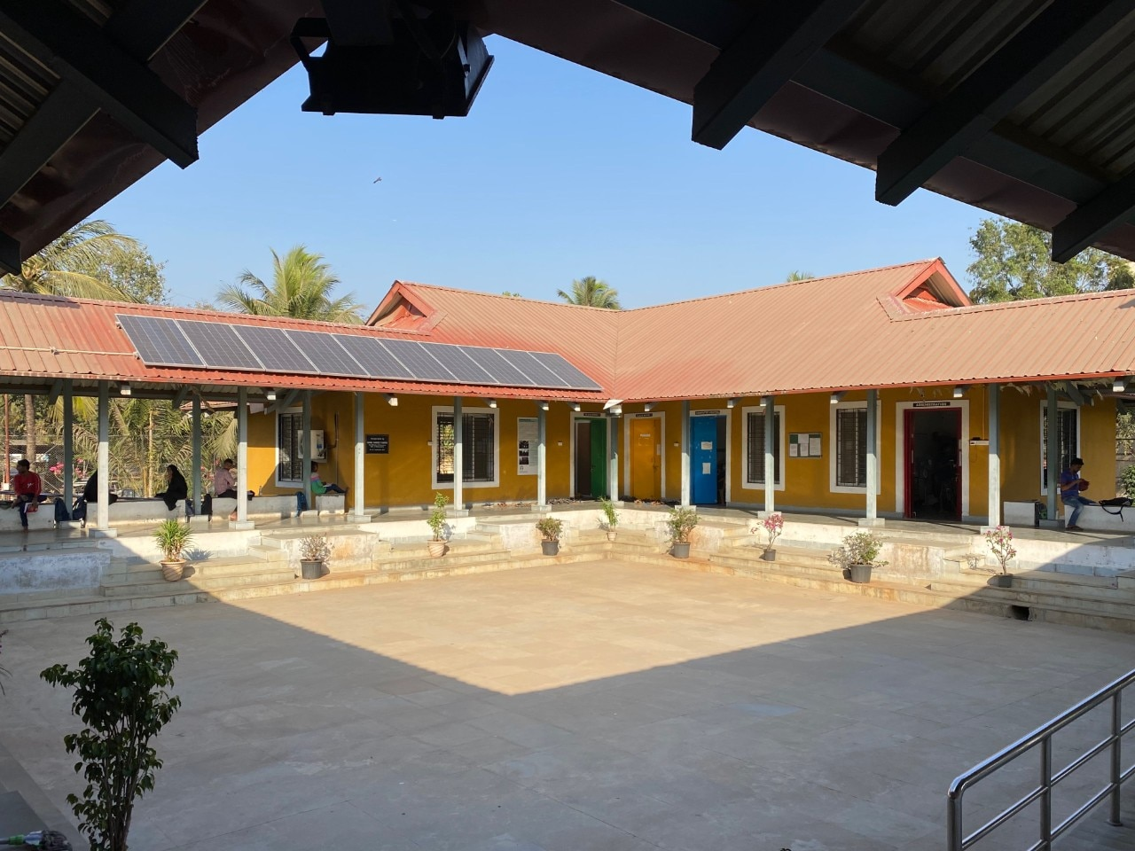 Image of learning facilities operated by TISS in M-East Ward as part of social outreach program.