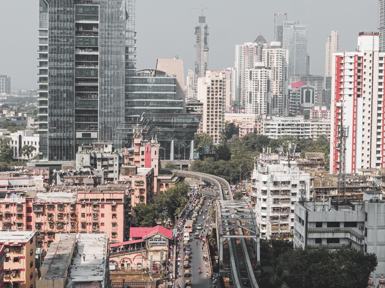 View of Mumbai cityscape