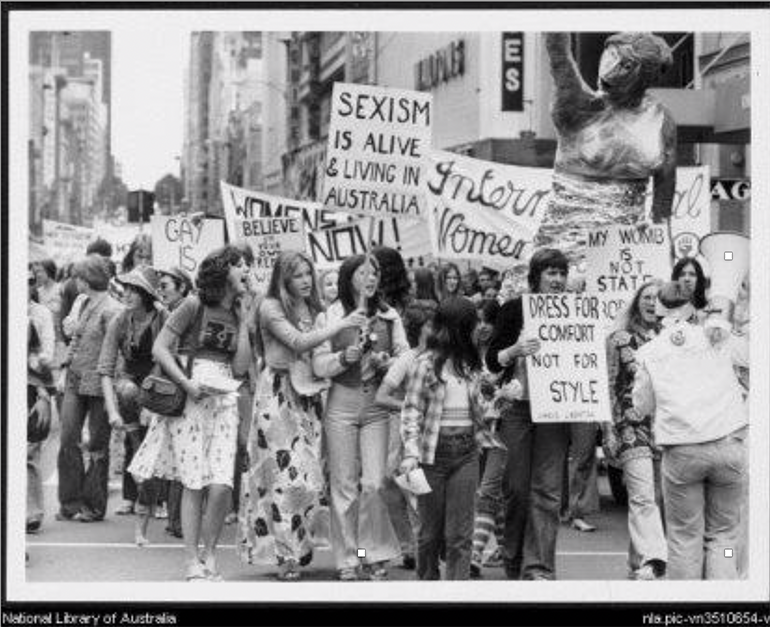 International Women's Day rally, Melbourne 1975.