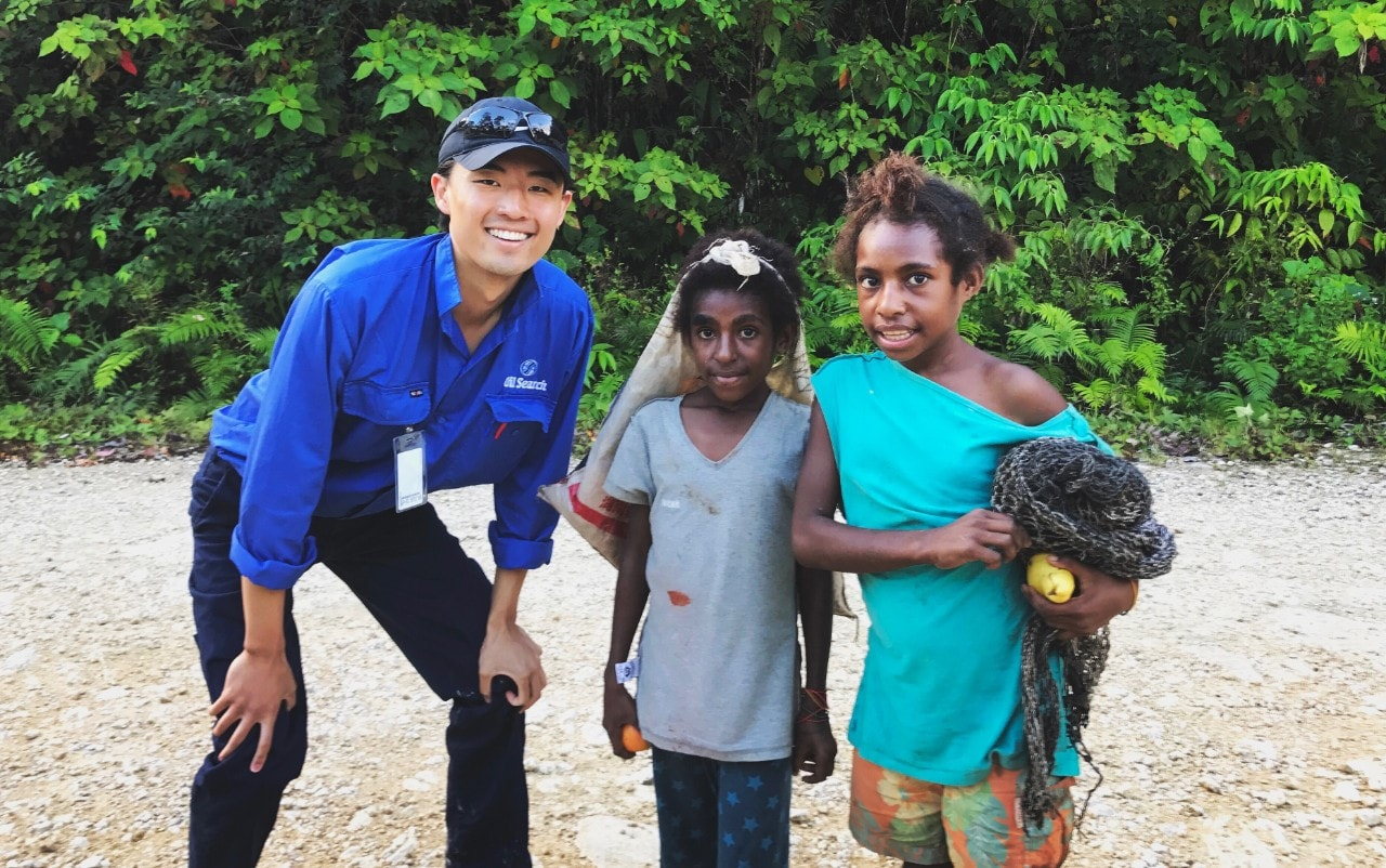 James Zhang in Papua New Guinea