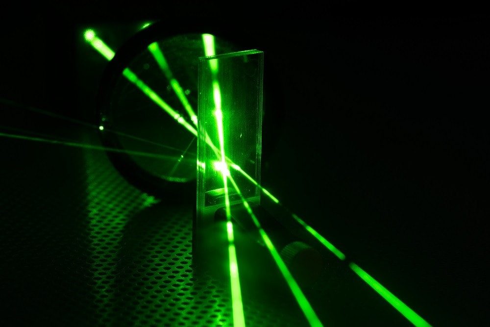 Green photonics laser being tested in laboratory