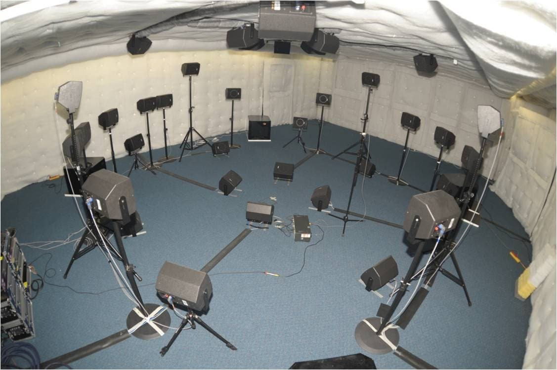 Audio lab in the faculty of engineering