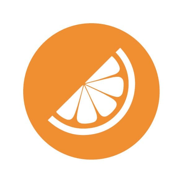 Eat better logo of an orange