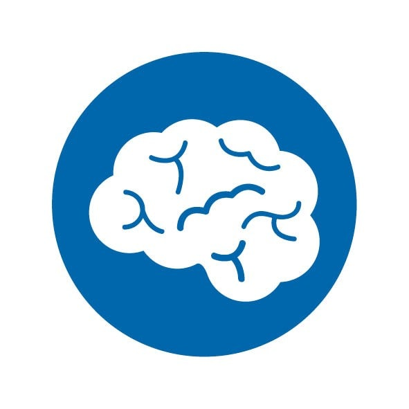Mental wellbeing logo of a brain