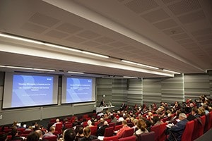 Lecture theatre during event