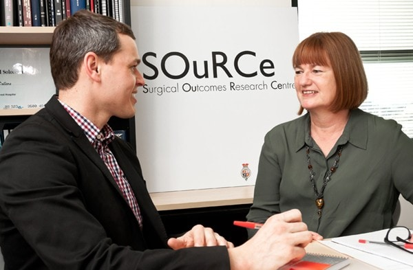 SOuRCe staff meet to discuss surgical research