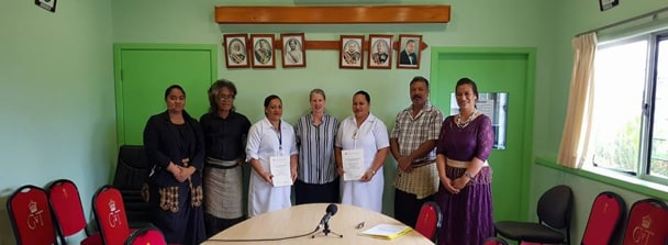 Sydney Nursing School students at community health centres in Tonga
