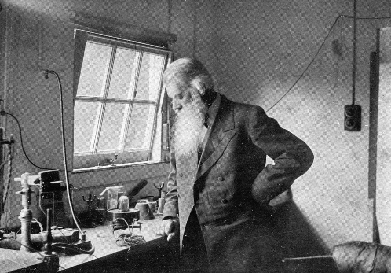 Joseph Swan in his workshop