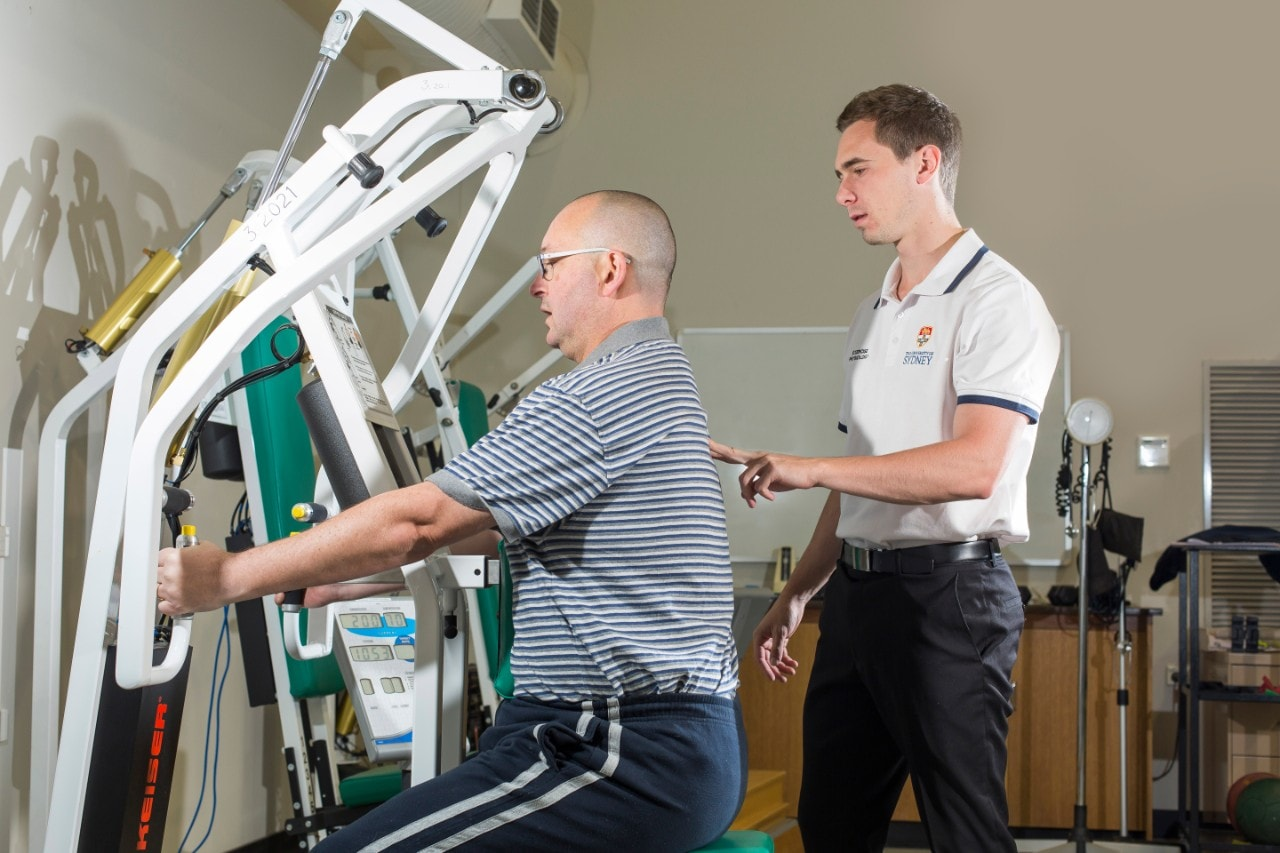 Exercise Sport Science study working with patient