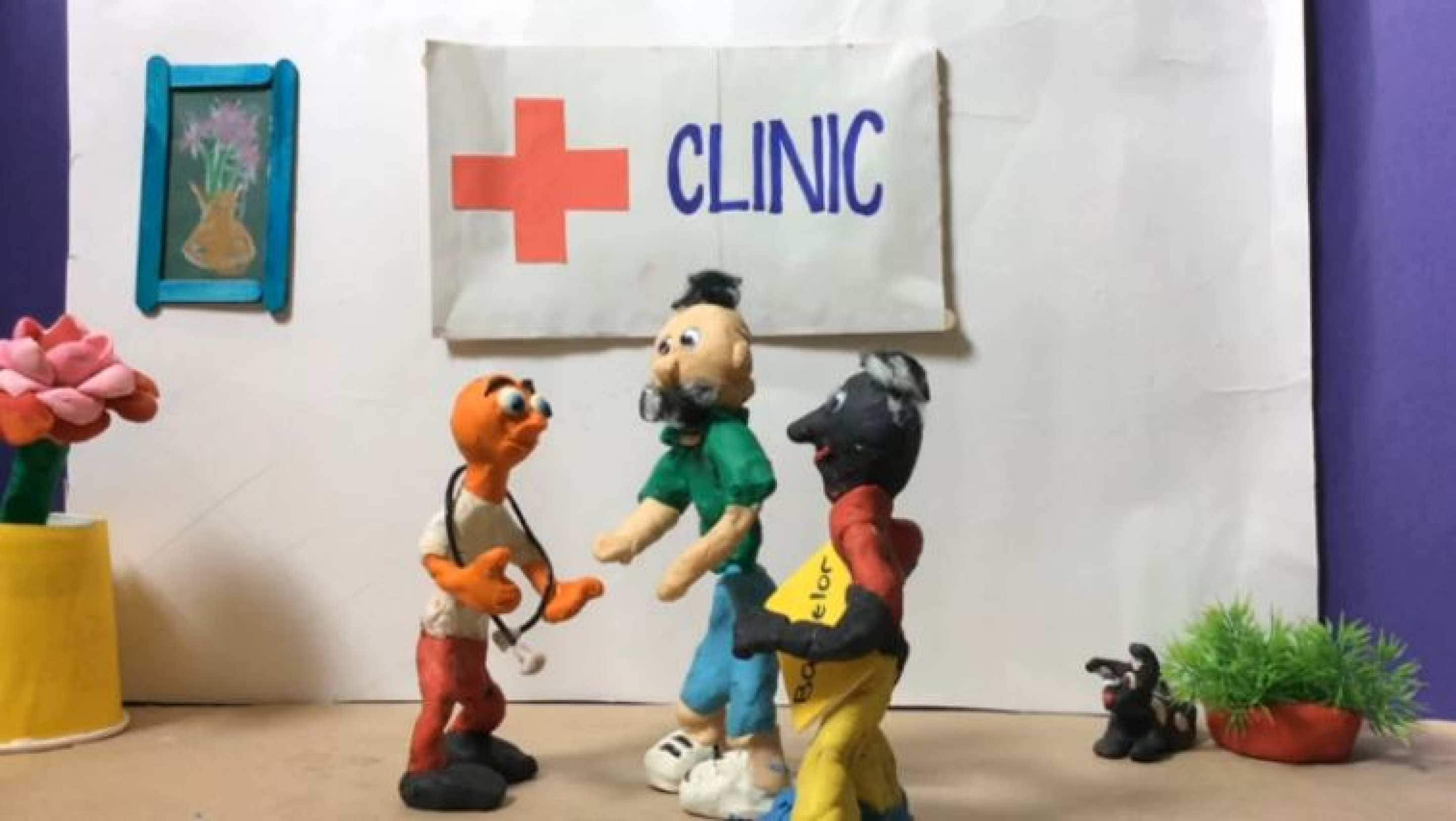 Still from a Framing Health claymation video
