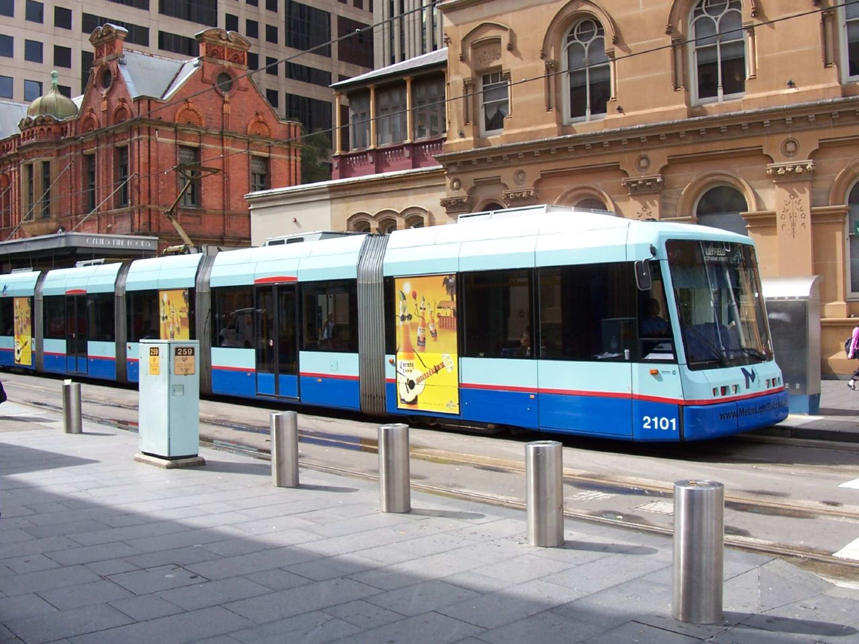 Photo of light rail in Hay Street, Sydney