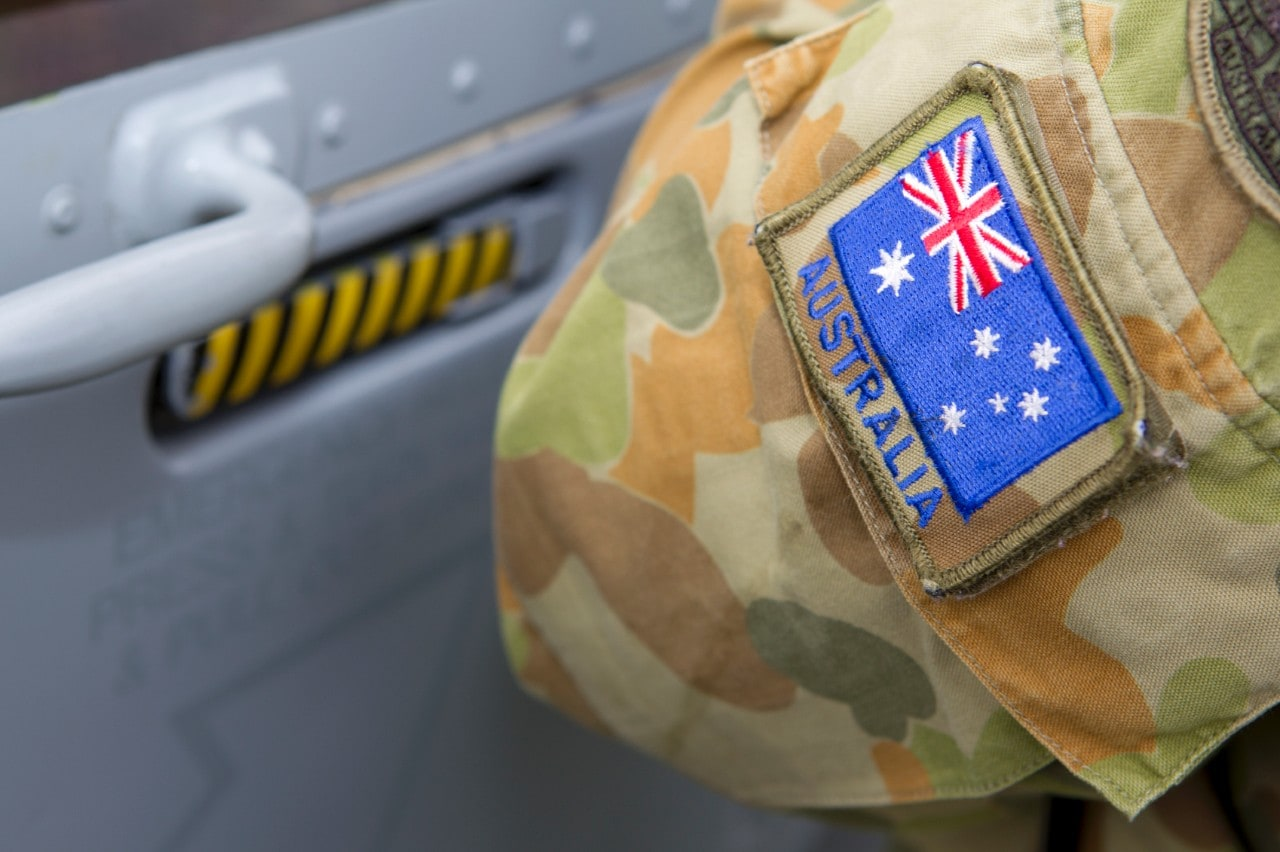 An insignia on the arm of a member of the Australian Defence Force personnel. Image: iStock