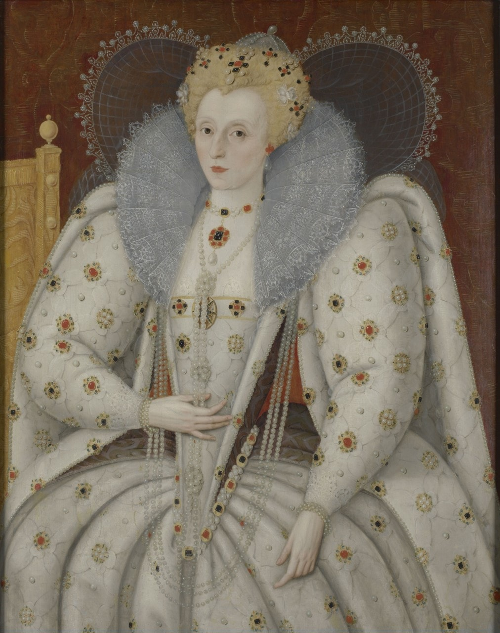 Elizabeth I of England could be seen as the real-life Daenerys Targaryen. Image: Marcus Gheeraerts the Younger/Wikimedia Commons.