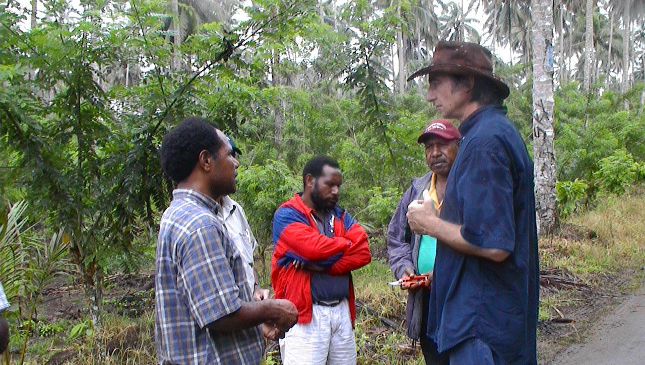 David Guest with Cocoa Farmers in PNG