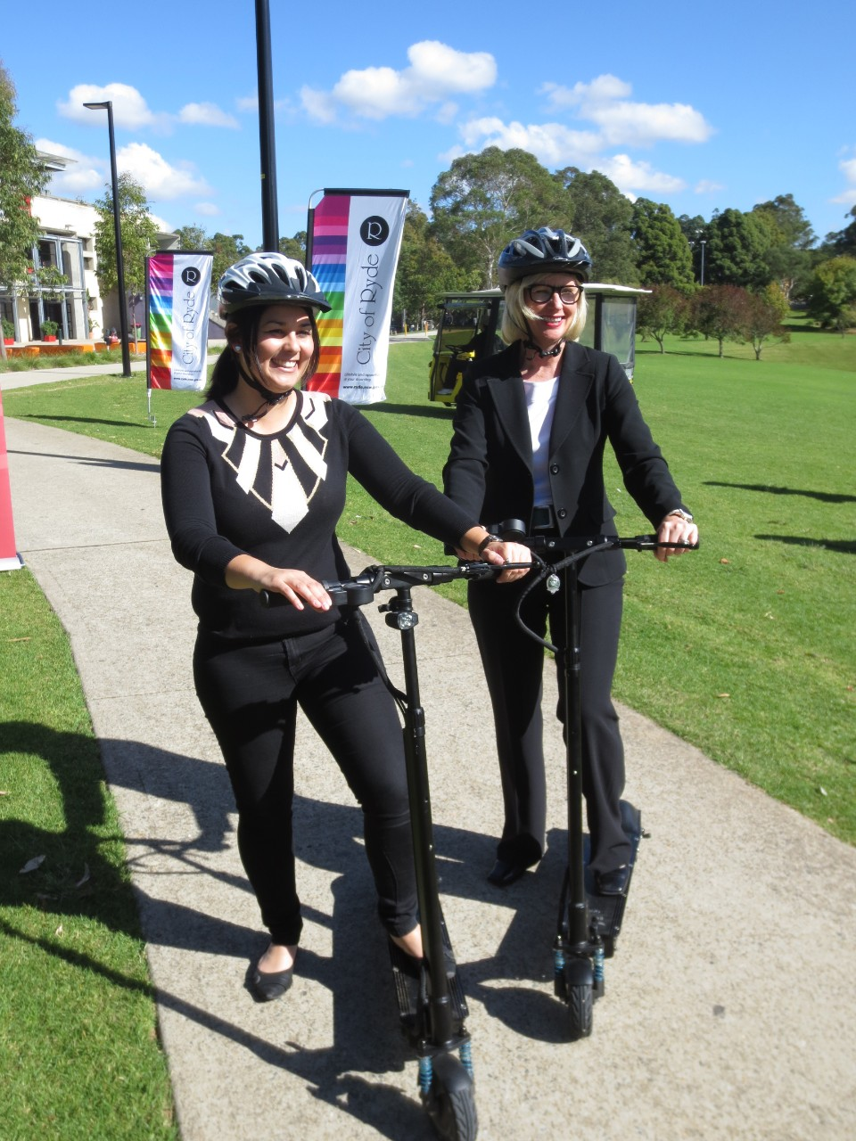 Personal mobility devices, known as PMDs, are more disruptive and a less successful sustainable transport option thus far in Australia. Photo: Professor Robyn Dowling.