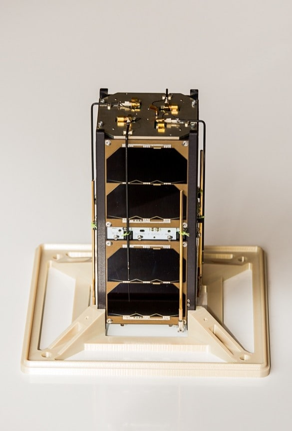 A photo of the INSPIRE-2 CubeSat.