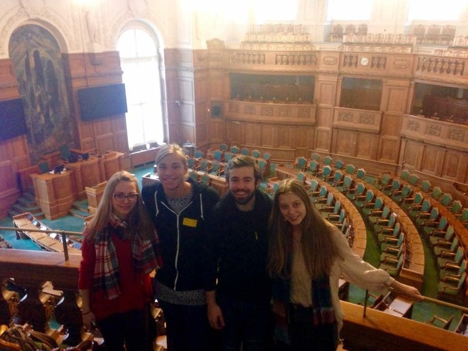 Four students on exhcange in Copenhagen court
