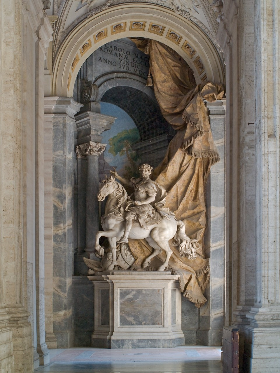 Monumental statue of Charlemagne.