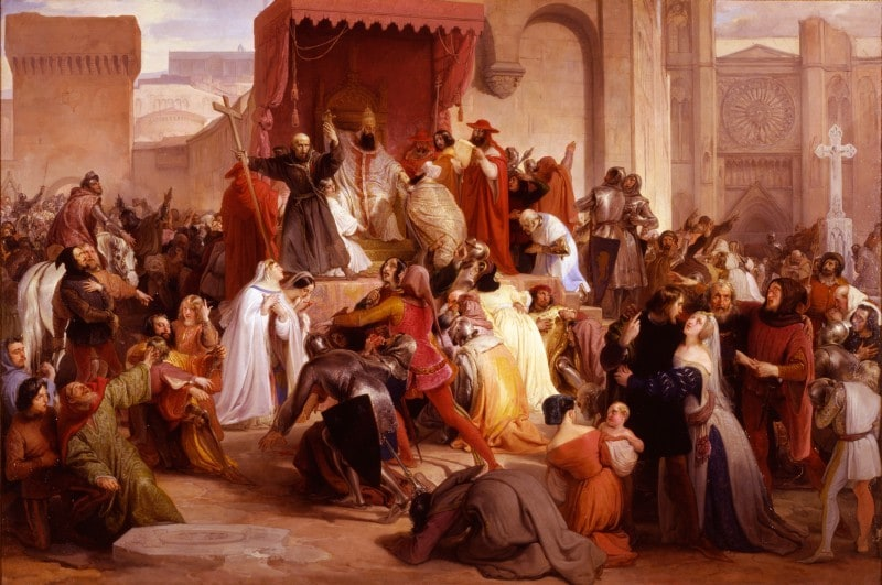 Pope Urban II preaching the First Crusade in the Square of Clermont