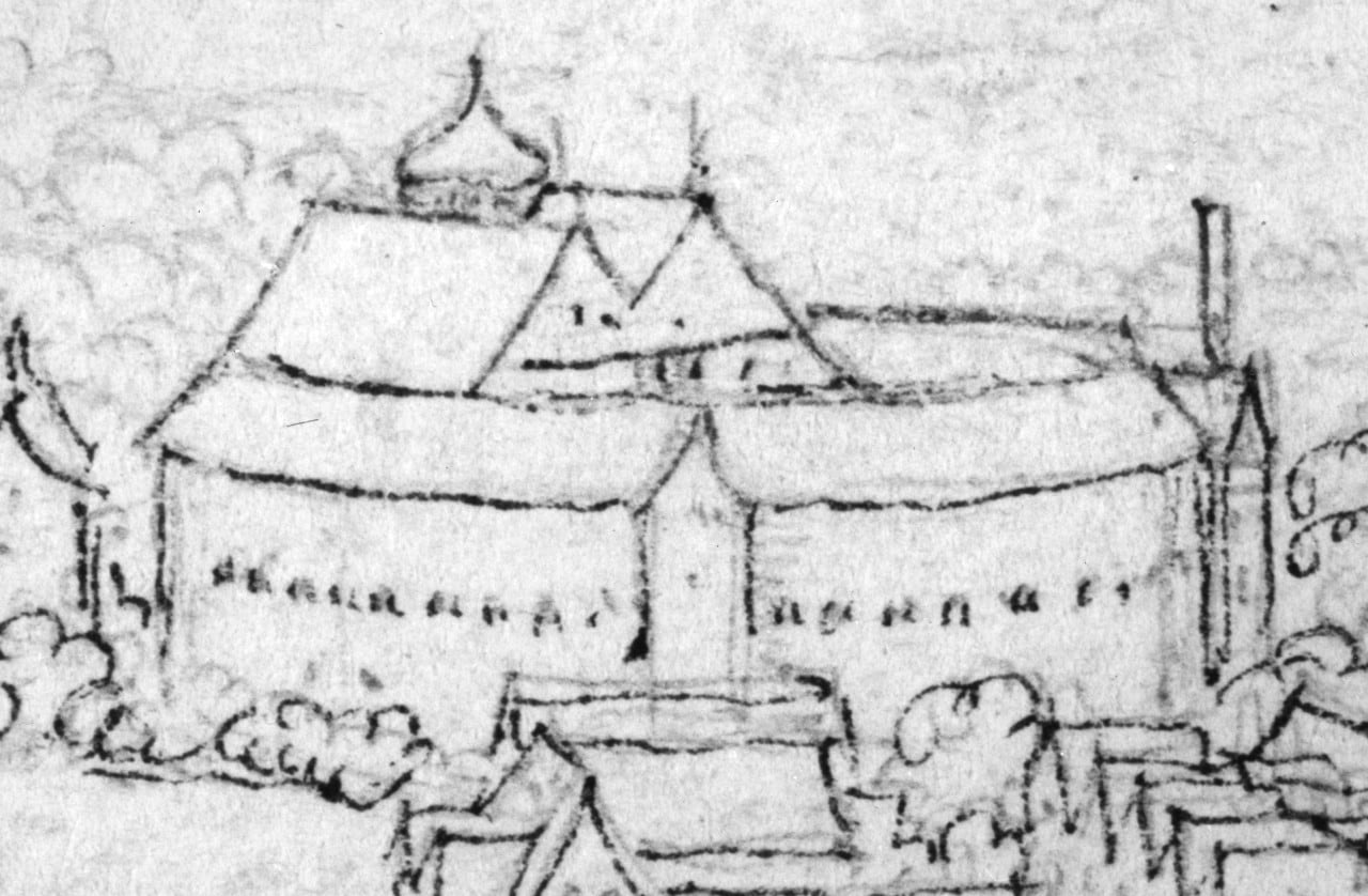 Wenceslaus Hollar's sketch of the Globe. Image: courtesy Tim Fitzpatrick.