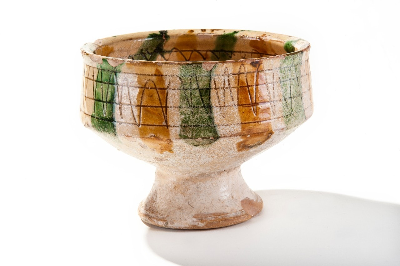 Sgraffito bowl from the time of the Crusades
