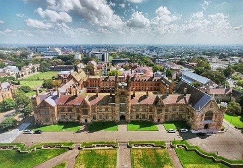 Aerial photo of the Quadrangle
