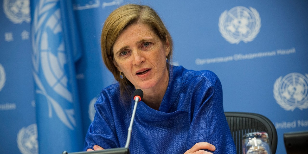Irish-American author, academic and diplomat Samantha Power, currently United States Ambassador the United Nations.
