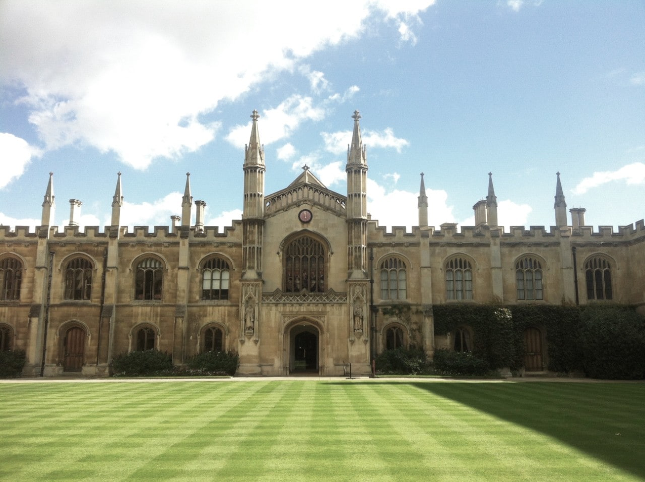 The University of Cambridge campus where Mitchell studied.