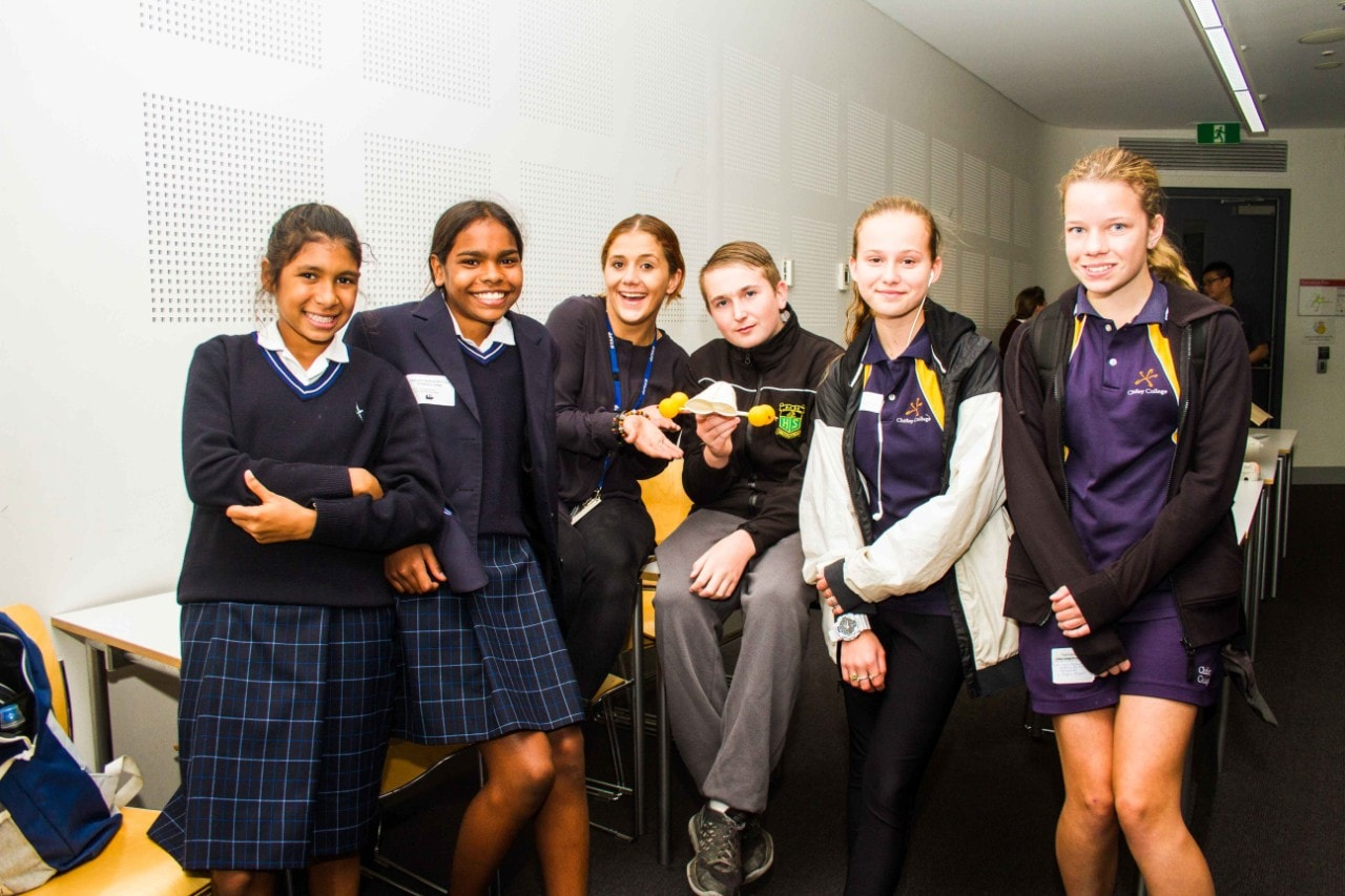 Indigenous high school students at Compass' Experience Uni day