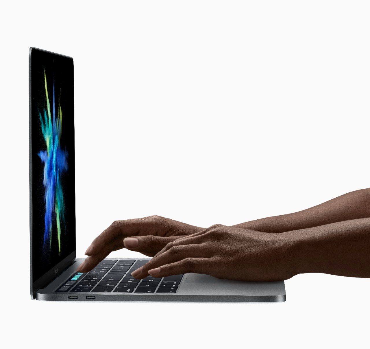 The groundbreaking Touch Bar dynamically adapts to the application you're using. Photo: Courtesy of Apple.
