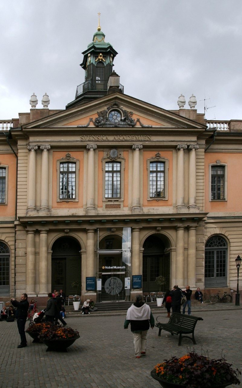 Image of the current Nobel Museum in Stockholm