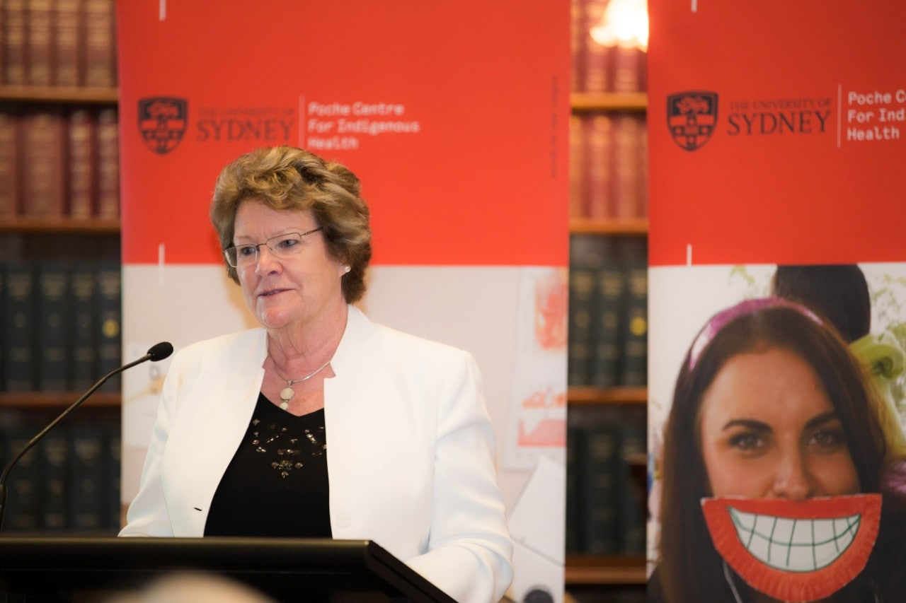 A photo of NSW Health Minister Jillian Skinner speaking at the launch.