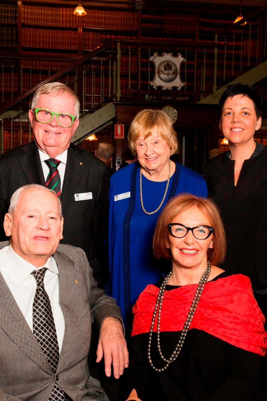 A photo of Greg Poche, Reg Richardson, Sally Richardson, Kay Van Norton Poche, Kylie Gwynne.