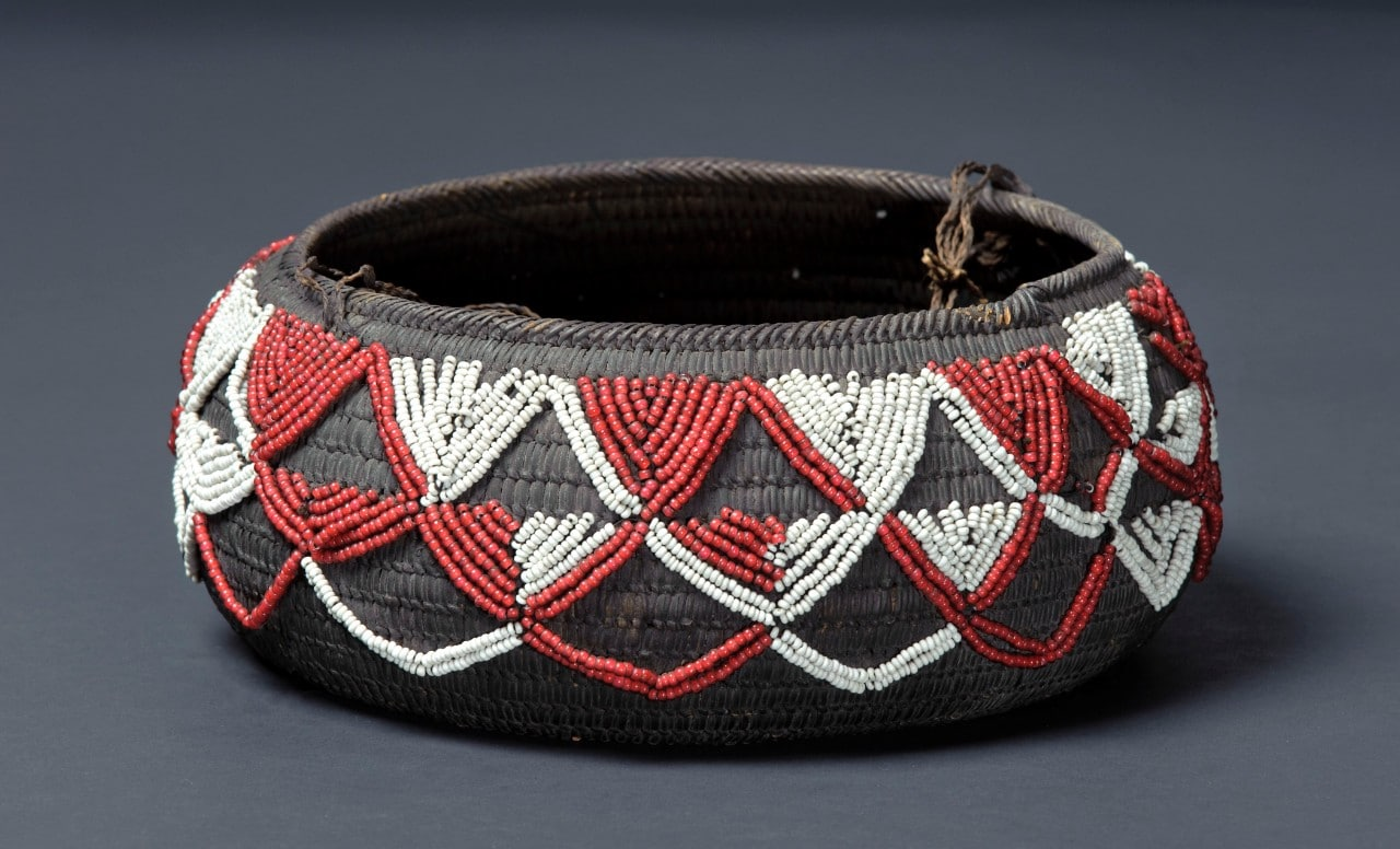 A photo of a Kato'alu (ceremonial basket), mid 19th century, unknown maker, Tonga.