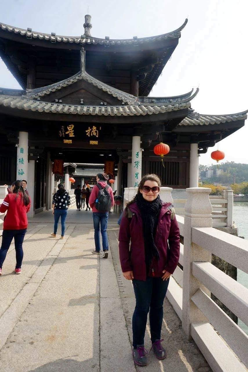 Zoe Neill in China.