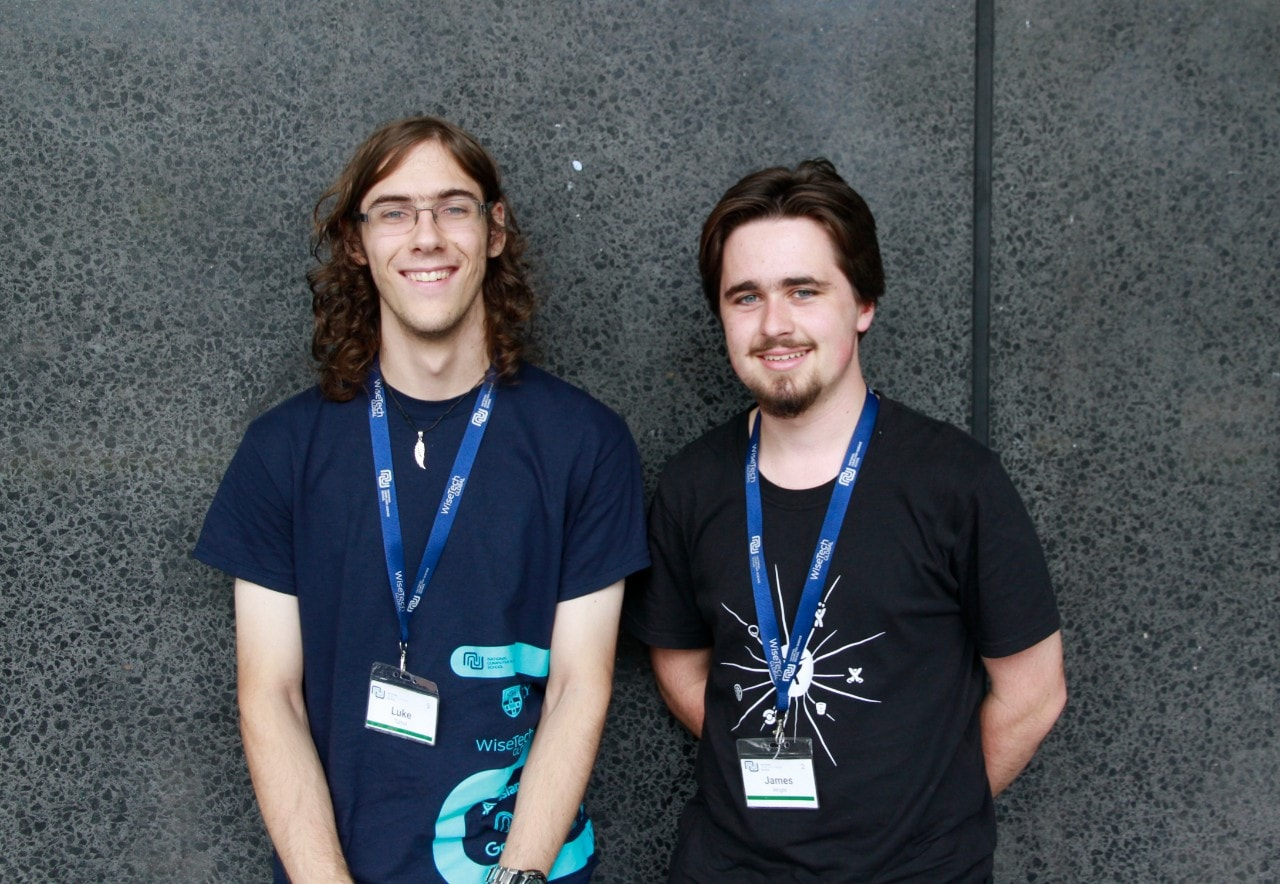 Luke Tuthill and James Wright from the Gosford High School team will compete in the Zero Robotics finals.