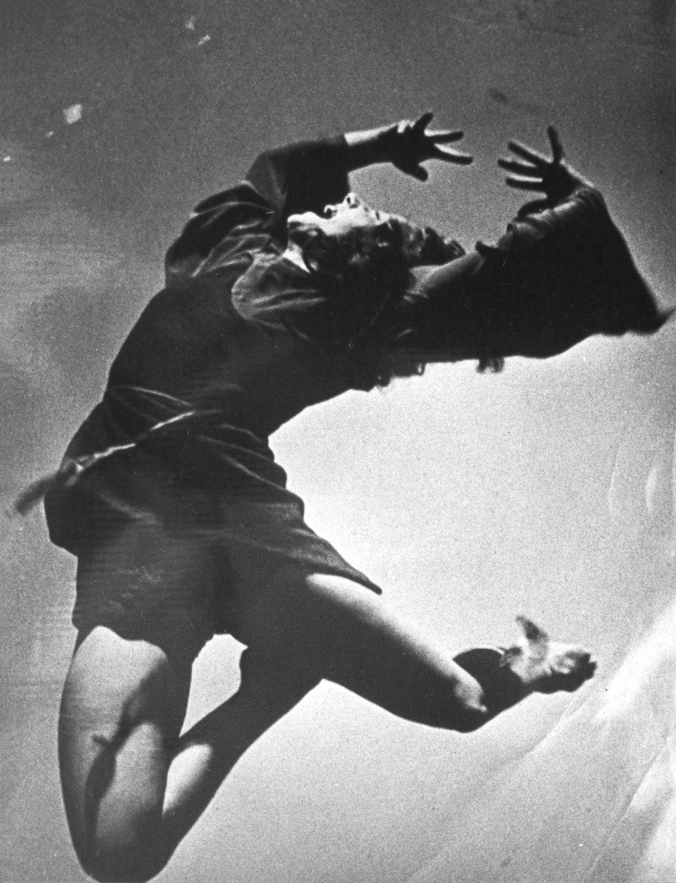 Dancer Shona Dunlop as Cain for the Bodenwieser Ballet's production of Cain and Abel, produced and performed in the Verbrugghen Hall of the Sydney Conservatorium of Music in 1940.