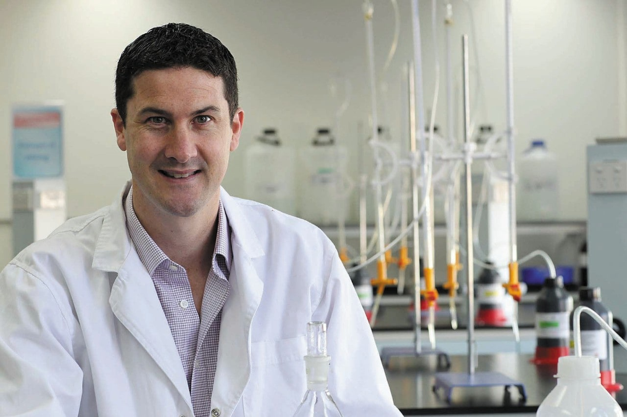 Professor Richard Payne in a laboratory