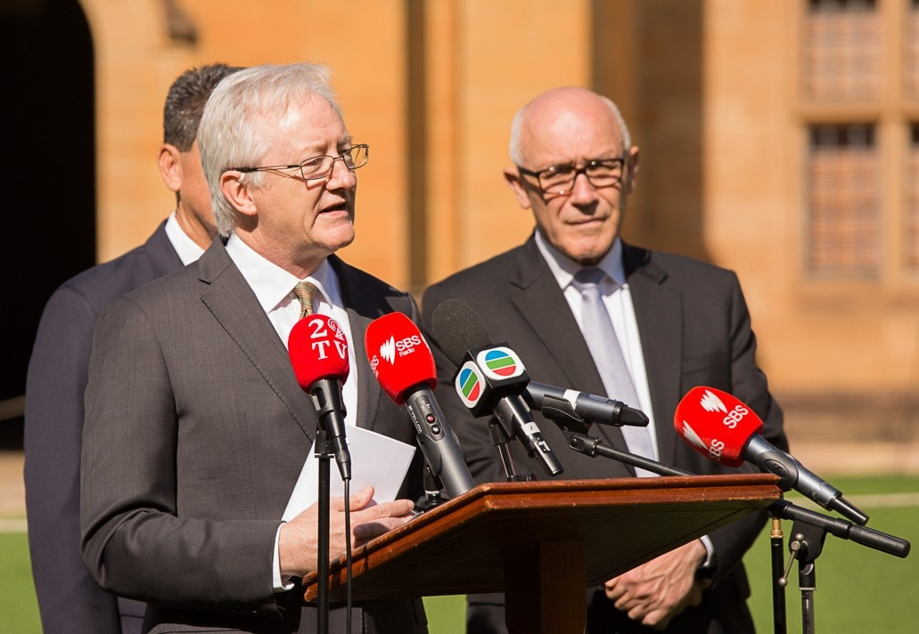 Acting Vice Chancellor, Professor Stephen Garton, said the partnership continues a long tradition of university leadership in community languages education. Image: Bill Green/University of Sydney