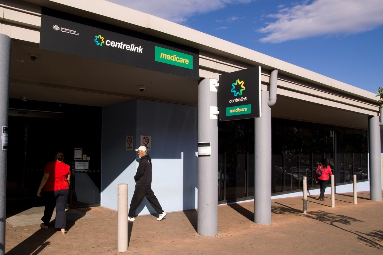 People enter a Centrelink service centre in Mount Druitt, in Western Sydney. Image: iStock