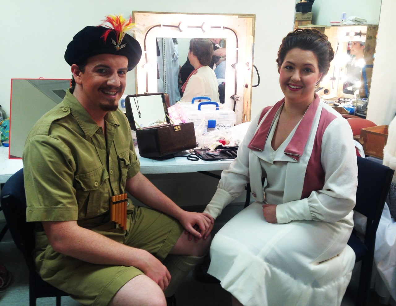 Con Opera students Tristan Entwistle and Samanta Lestavel starring in Opera Australia's production of Mozart's The Magic Flute.